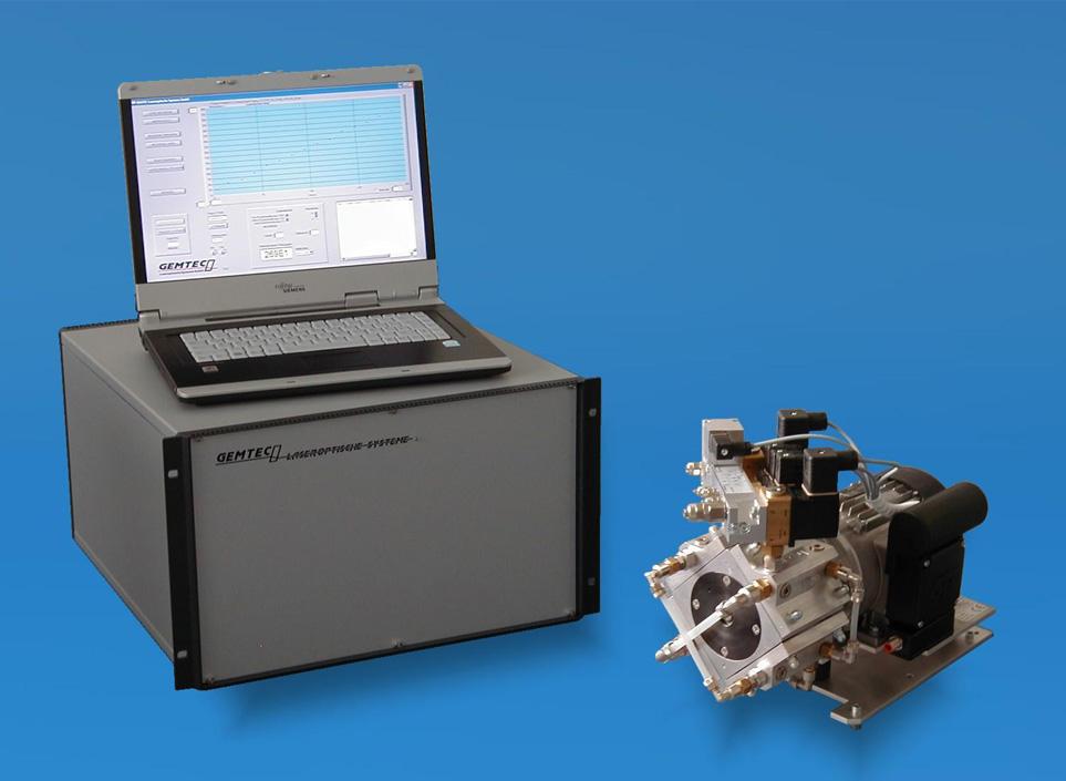 Laseroptisches Dichtheitsprüfsystem der Baureihe LTS 310/320 V von Gemtec