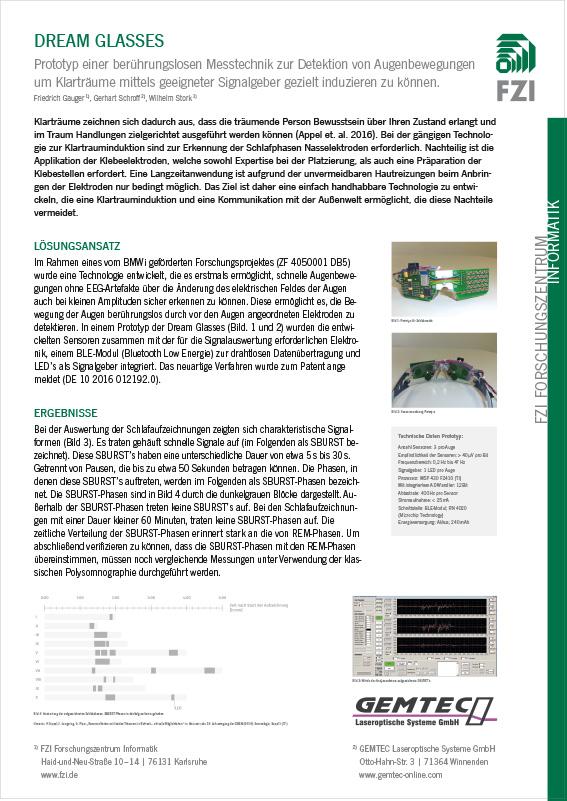 DREAM GLASSES, Poster Tagung Gesellschaft für Schlafforschung und Schlafmedizin e. V.